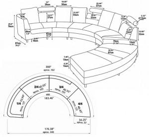 measurements sofa